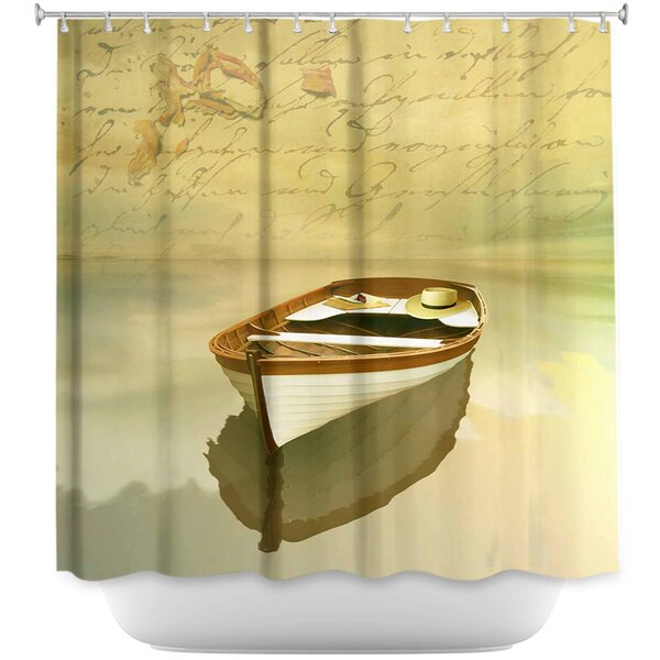 DiaNocheDesigns Memories I Boat Shower Curtain