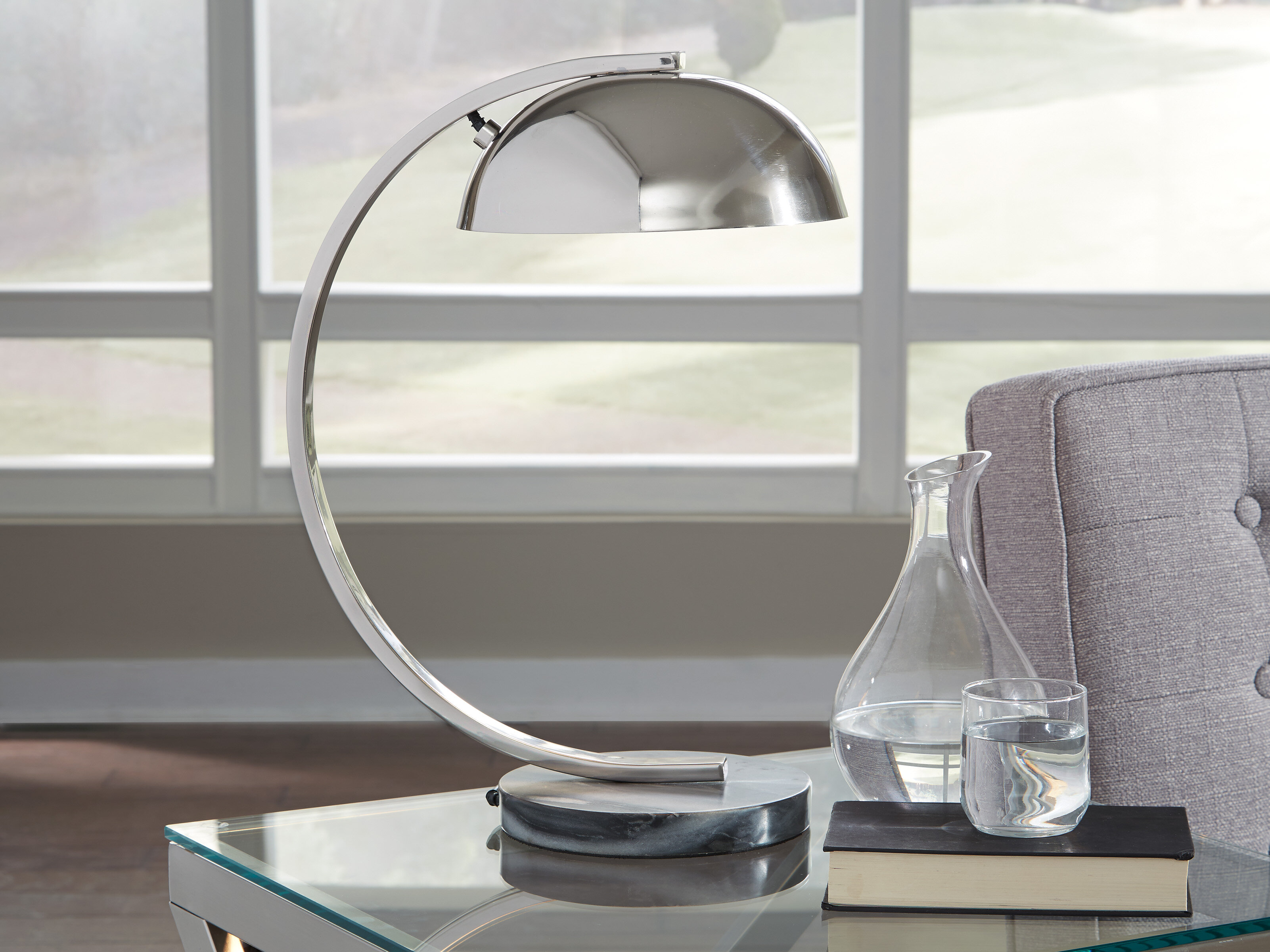 Picture of: Orren Ellis Cortez 19 Arched Table Lamp Wayfair