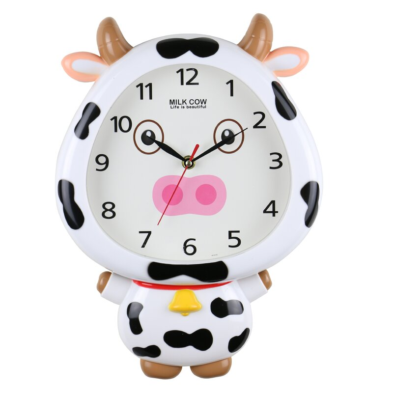 Zoomie Kids Kerley Milky Cow Interactive Movable Eyes Childrens
