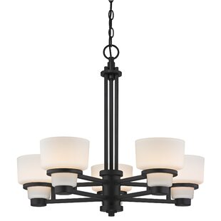 Saxon 5-Light Shaded Chandelier by Dolan Designs