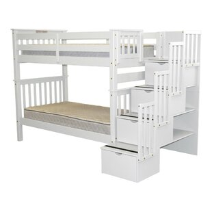 Check Prices Tena Tall Twin over Twin Bunk Bed with Storage By Harriet Bee