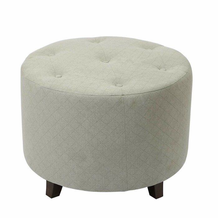 Terrific Mickey Round Button Tufted Ottoman Andrewgaddart Wooden Chair Designs For Living Room Andrewgaddartcom