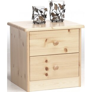 Mario 2 Drawer Nightstand by Natur Pur