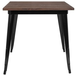 Alfreda Square Metal Indoor Pub Table by Williston Forge