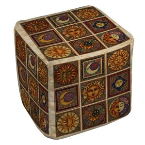 Celestial Squares Ottoman by Manual Woodworkers & Weavers