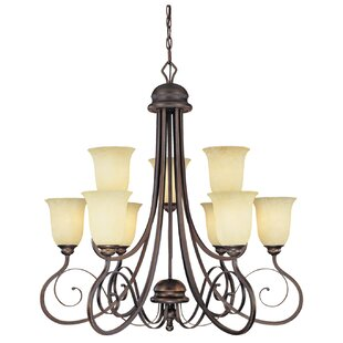 Fleur De Lis Living Samson 9-Light Shaded Chandelier