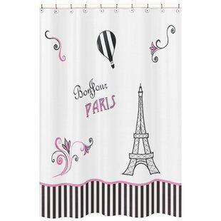 Paris Microfiber Shower Curtain