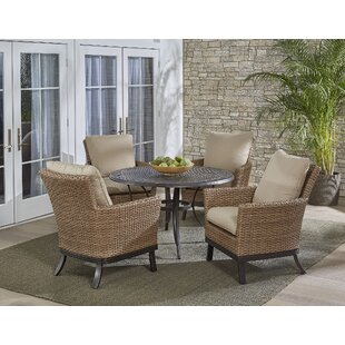 Three Posts Lauritsen 5 Piece Dining Set with Cushions