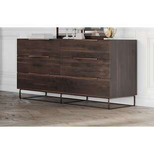 Kinzey 6 Drawer Double Dresser by Brayden Studio