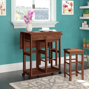 Lefever 3 Piece Drop Leaf Dining Set