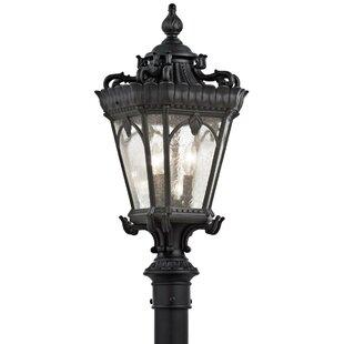 Reviews Guzzi Outdoor 3-Light Lantern Head By Fleur De Lis Living