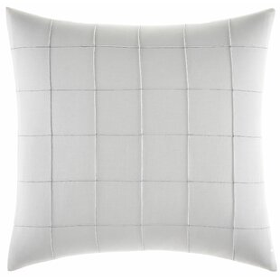 Shibori Grid Pin Tuck Throw Pillow