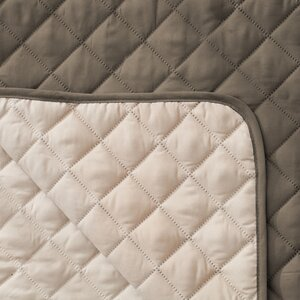 Quilted Box Cushion Armchair Slipcover