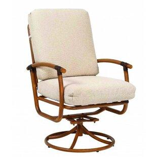 Glade Isle Rocker Swivel Patio Dining Chair with Cushion by Woodard
