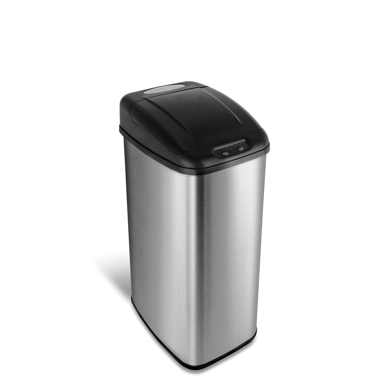 Nine Stars Stainless Steel 13 Gallon Motion Sensor Trash Can Reviews Wayfair