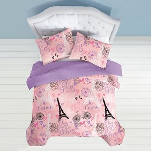Aubin Je T'aime Paris Reversible Comforter Set