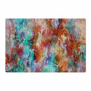 Ebi Emporium The Nexus 1 Painting Orange/Aqua Area Rug