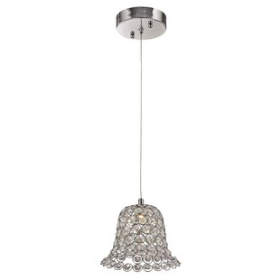House of Hampton Apollo 1-Light Crystal Pendant