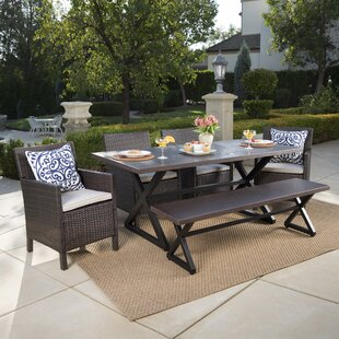 Brayden Studio Sands Outdoor 6 Piece Dining Set with Cushions