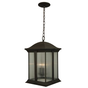 Compare prices Oakhill Black 3-Light Outdoor Hanging Lantern By Charlton Home