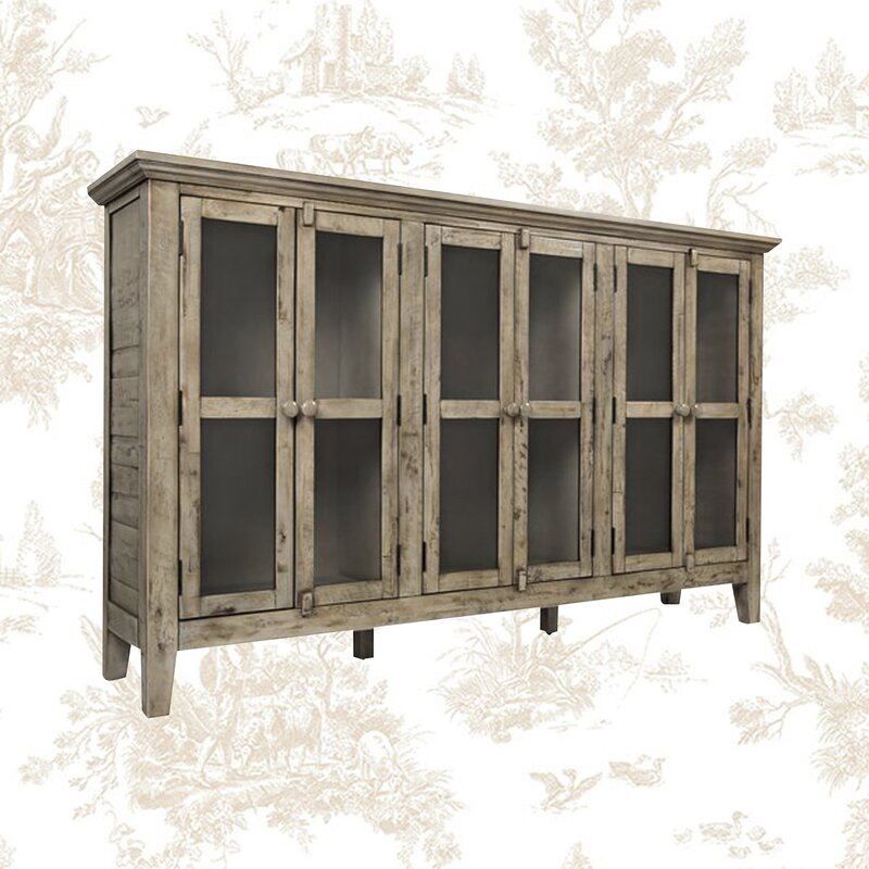 """Eau Claire 70"""" Wide Acacia Wood Sideboard from Kelly Clarkson collection at Wayfair. #rusticcabinet #furniture #sideboards #rusticdecor #kellyclarkson"""