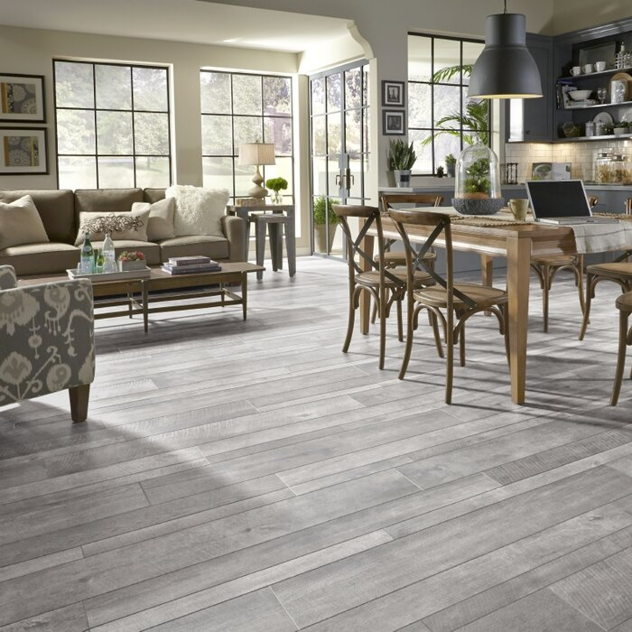 Restoration Collection 8 X 51 12mm Oak Laminate Flooring In Steel