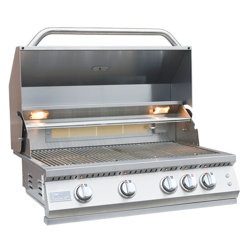 Kokomo Grills Professional Bbq 4 Burner Built In Convertible Gas Grill Wayfair