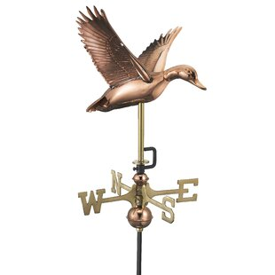 Caledian Flying Duck Weathervane By Sol 72 Outdoor