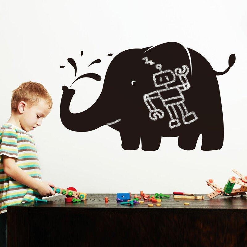 Blackboard Huge Elephant Wall Decal