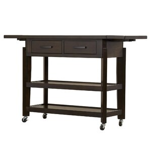 Inez Kitchen Island with Wood Top by Andover Mills