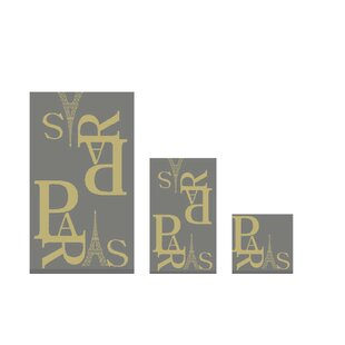 Paris Letters 6 Piece Bath Towel Set