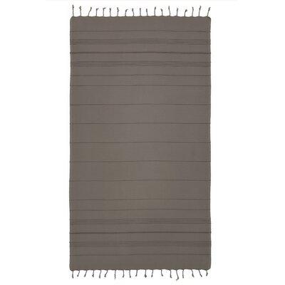 Bay Isle Home Sandspur Pestemal Turkish Cotton Beach Towel Color: Gray