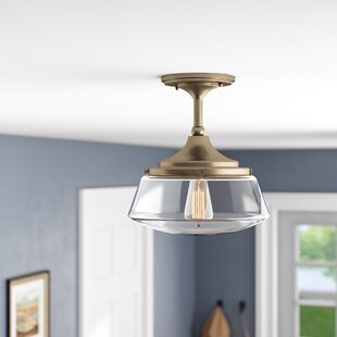 Chesterton 1-Light Semi Flush Mount by Three Posts