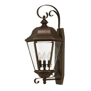 Great choice Clifton Park 3-Light Outdoor Wall Lantern By Hinkley Lighting