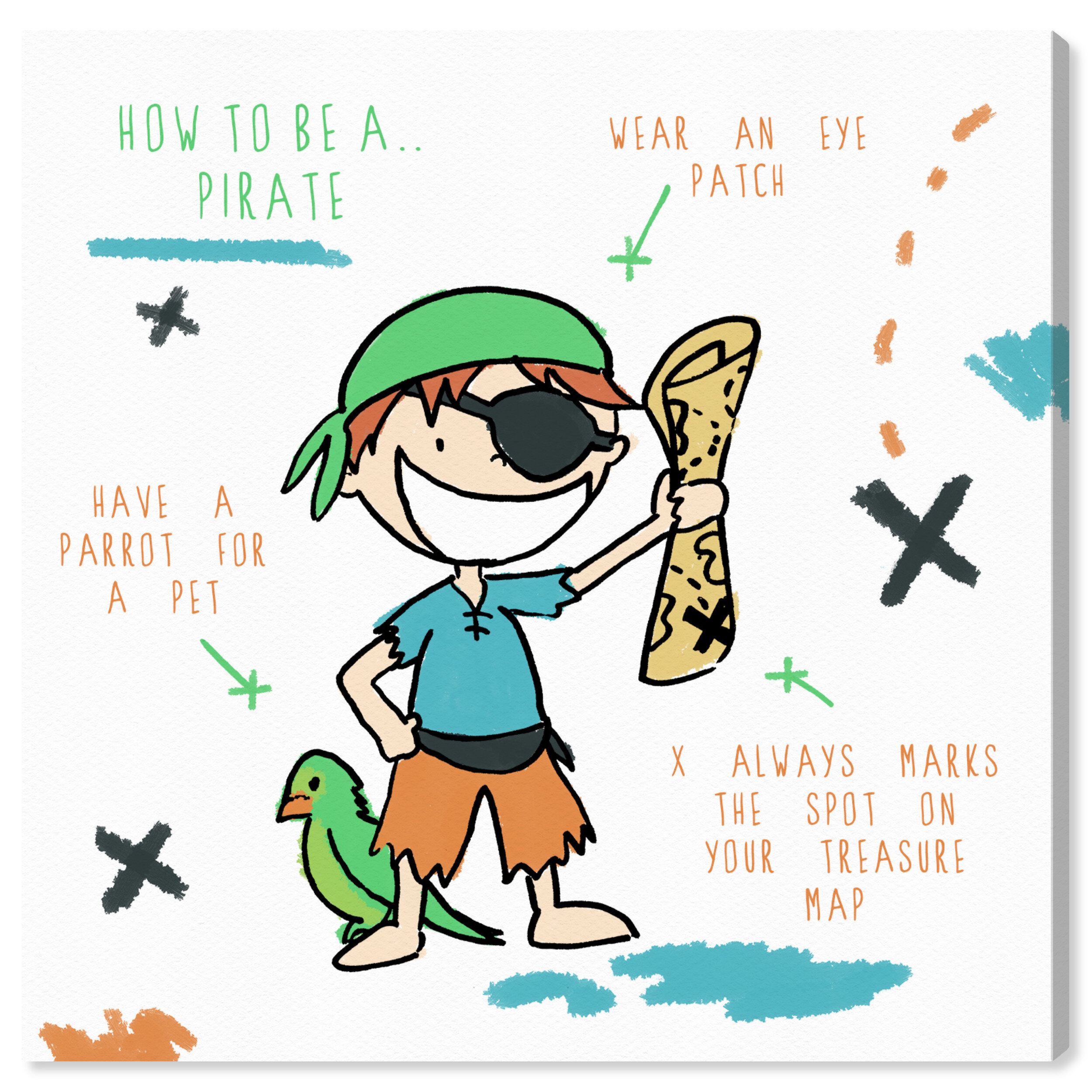 Efren \'How to Be a Pirate\' Canvas Art