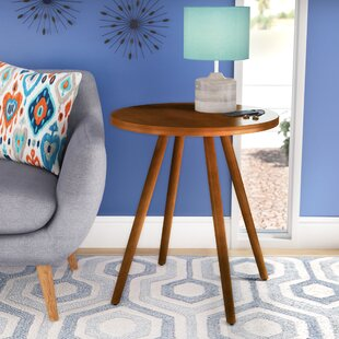 Reviews Bamboo Round Solid Wood Dining Table ByWrought Studio