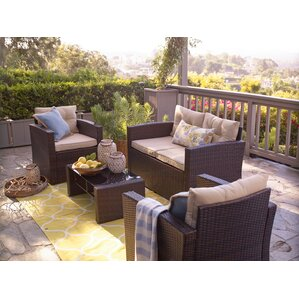 Raven 4 Piece Seating Group With Cushion