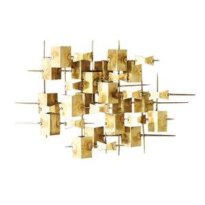 folded brass wall dcor
