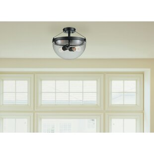 Mosses 2-Light Semi Flush Mount by Breakwater Bay