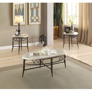 Fleur De Lis Living Diamondville 3 Piece Coffee Table Set