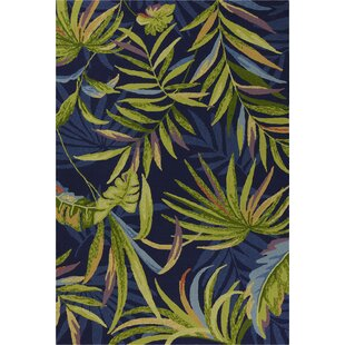 Stromberg Hand-Woven Blue/Green Indoor/Outdoor Area Rug