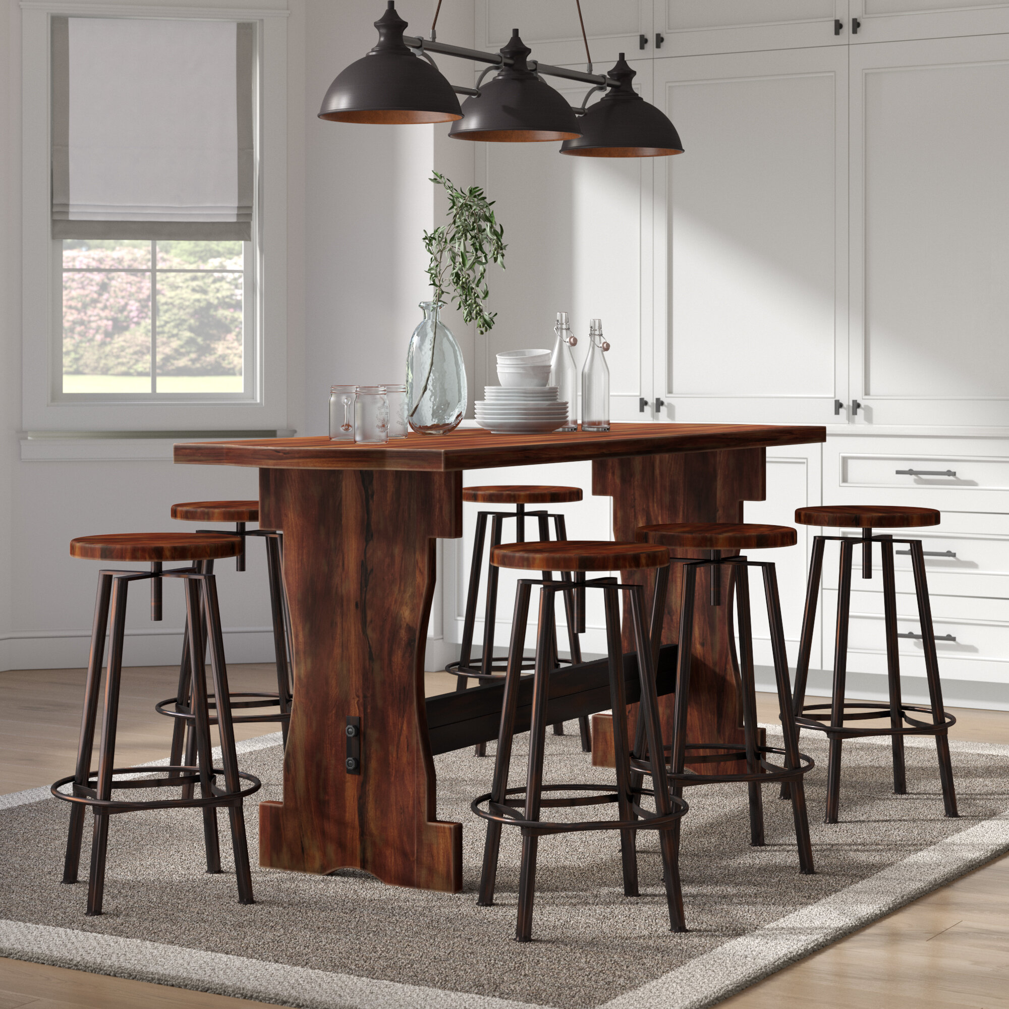 Awesome Connery 7 Piece Counter Height Pub Table Set Pdpeps Interior Chair Design Pdpepsorg