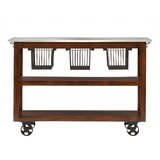 Lytchett Kitchen Cart with Marble Top by August Grove®