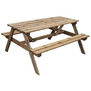 Rodgers Solid Wood Picnic Bench by Lynton Garden