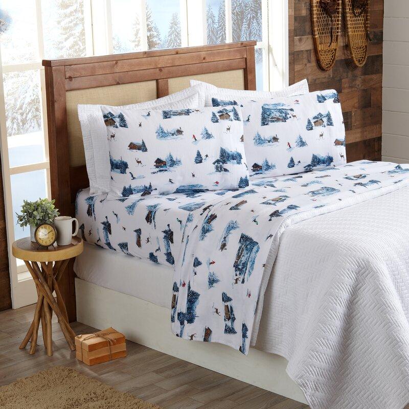 Millwood Pines Norsworthy 100 Cotton Flannel Sheet Set Reviews Wayfair