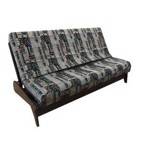 Premium Heavy Texture Box Cushion Futon Slipcover By Loon Peak
