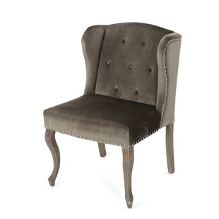 Mercer41 Hollange Modern New Velvet Wingback Chair