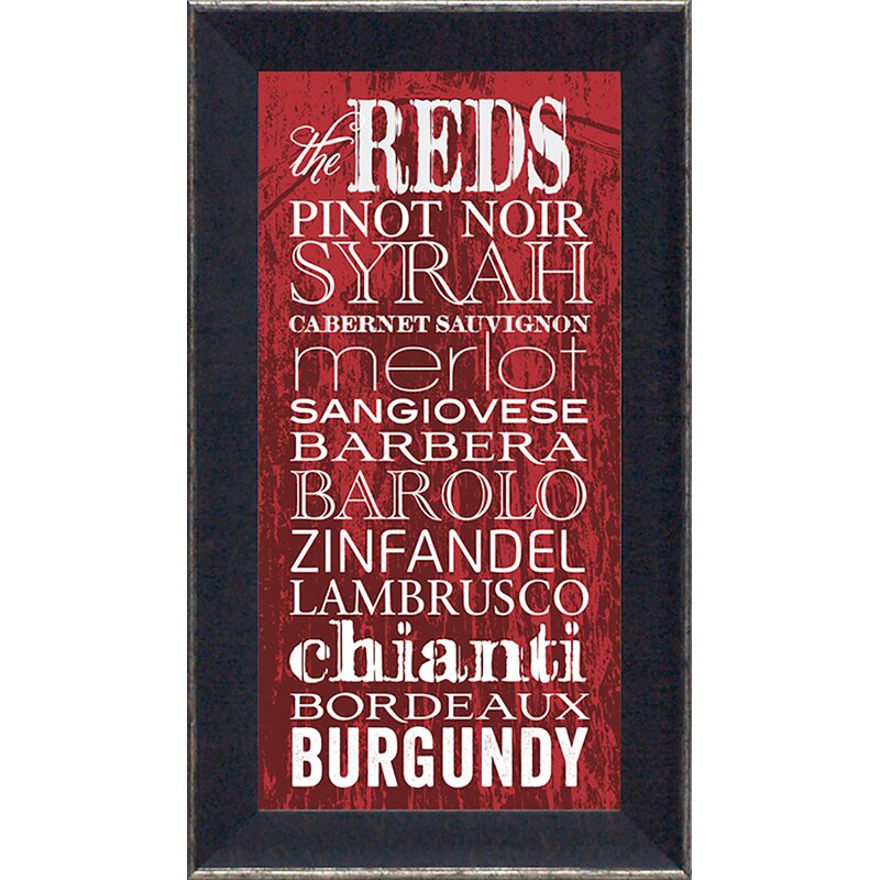 Artistic Reflections The Reds By Tonya Framed Textual Art Wayfair