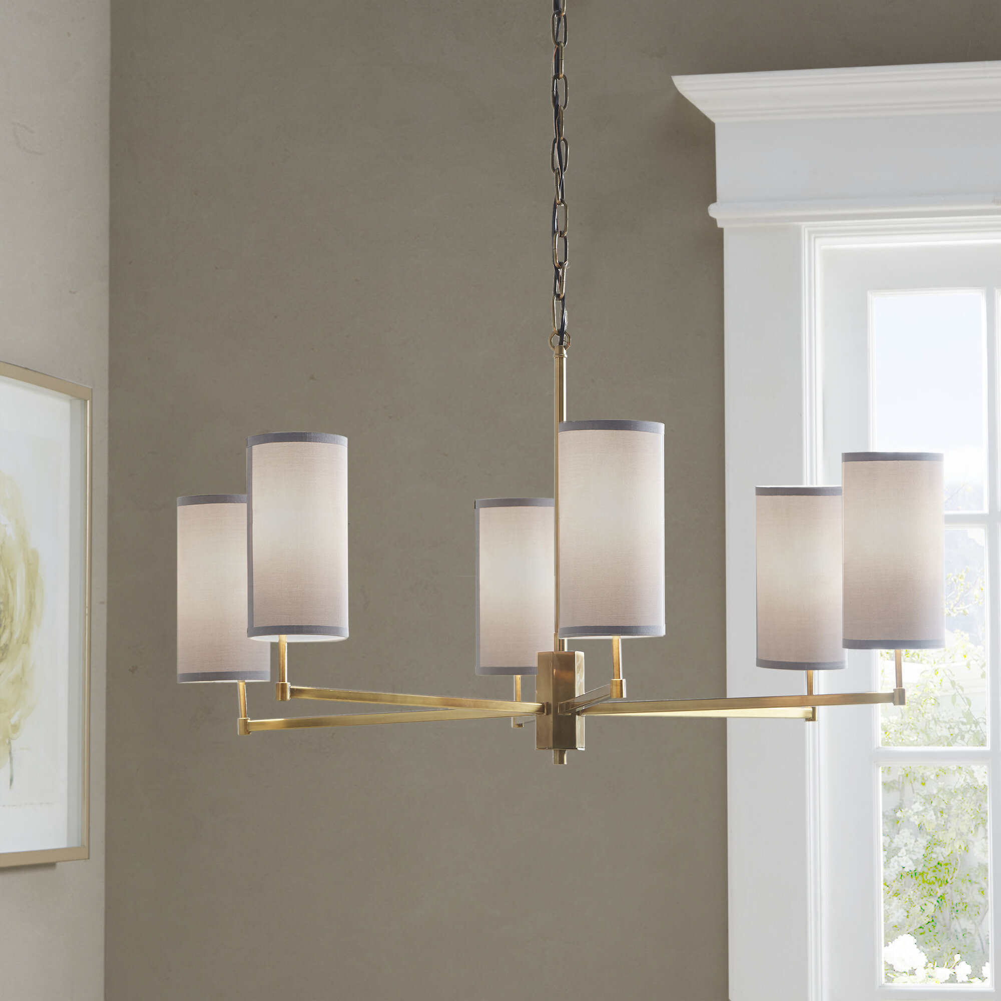Hampton Hill Conrad 6 Light Shaded Classic Traditional Chandelier Reviews Wayfair