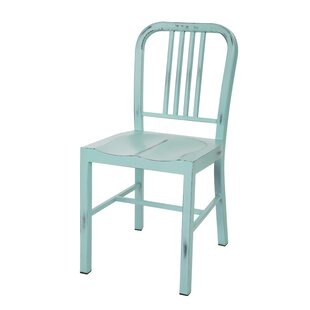 Glitzhome Vintage Metal Side Chair (Set of 2)